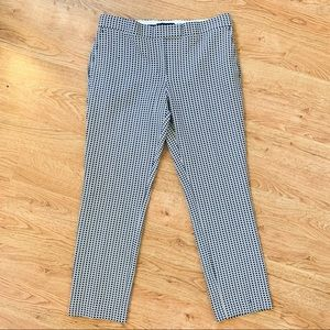 Ann Taylor Cropped Patterned Trousers 8